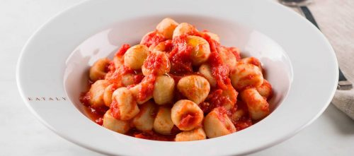 Potato Gnocchi with Spicy Tomato Sauce