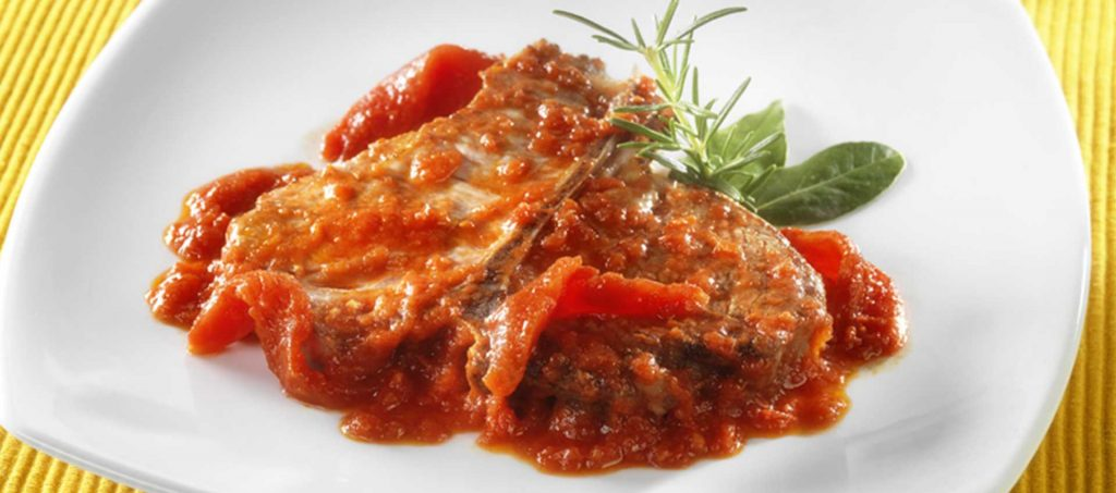 Farmer style pork chop in tomato sauce