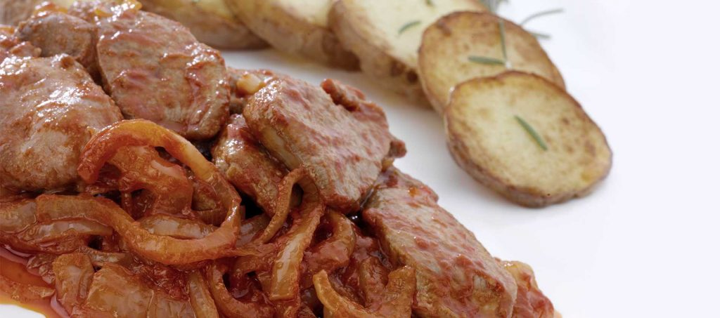 Calf liver recipe with Mutti double concentrated tomato paste