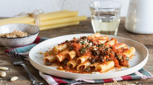 Mediterranean Ziti with anchovies