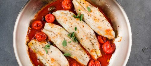 Branzino with Tomatoes and Olives