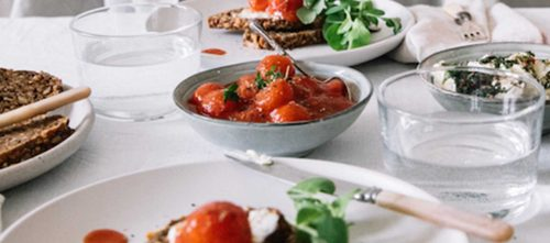 Mutti Cherry Tomatoes with Herbed Goats Cheese & Toast