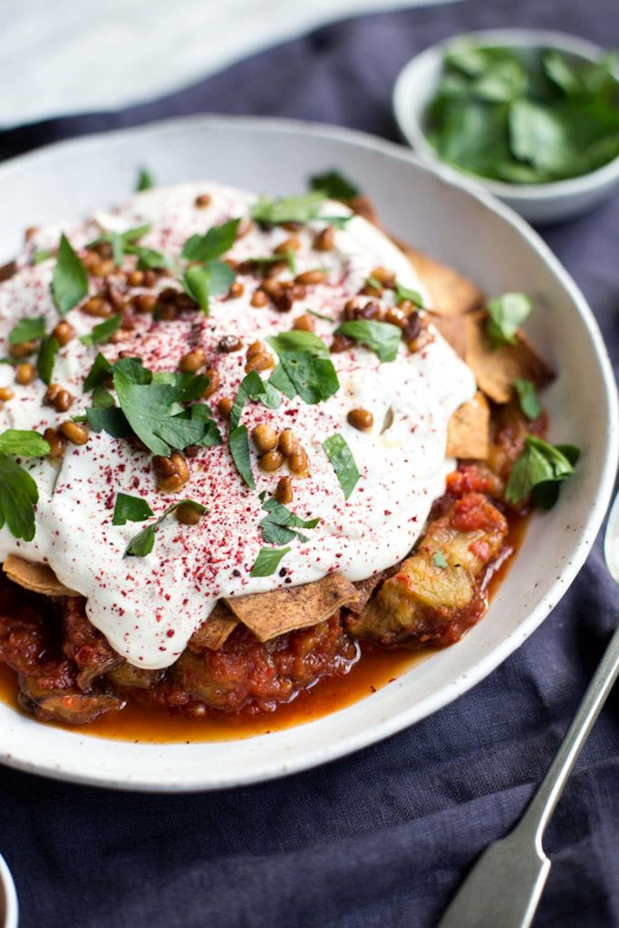 Eggplant Fatteh By @mattersofthebelly