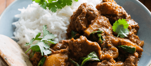 Madras beef and potato curry